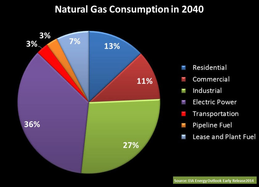 Nat Gas Consumption Forecast 2040