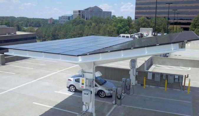 Carport EV PV
